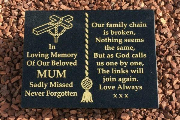 A3 Memorial Plaque Tassel Design