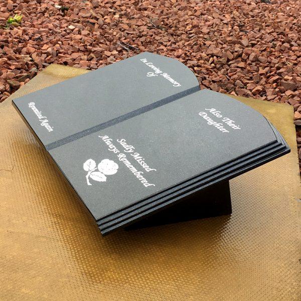 A3 book shaped memorials Forever Memorials
