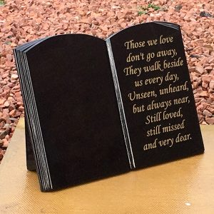 A3 Stand Up Book Shaped Memorial Plaque