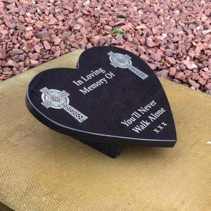 Heart Shaped Memorial Plaque