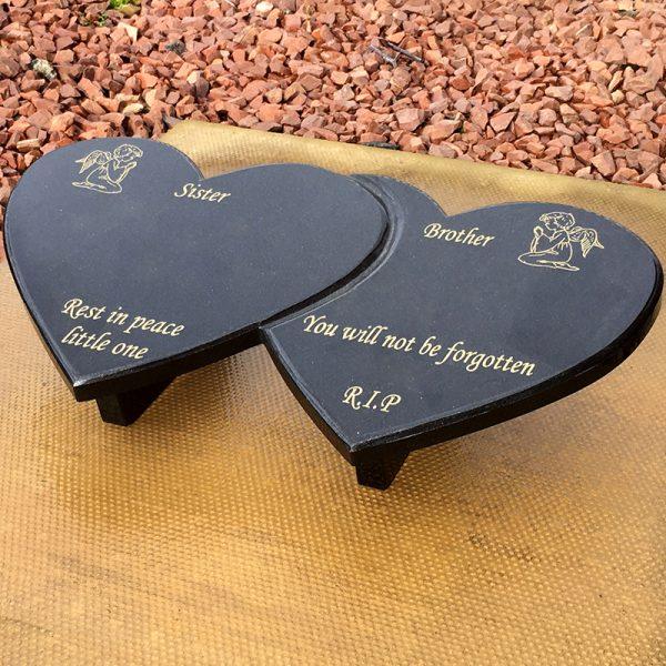 Double Heart Plaque